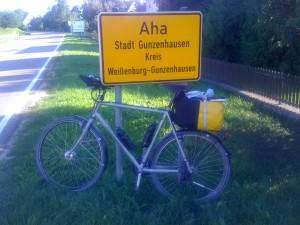 Aha. Hier bin ich schon in Gunzenhausen.