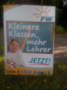 Die Drohung der Freien Wähler: Mehr Lehrer.