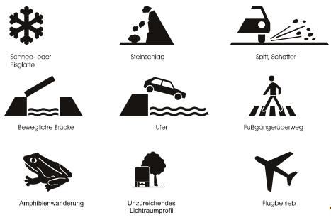 Neue Zusatzzeichen ab September 2009